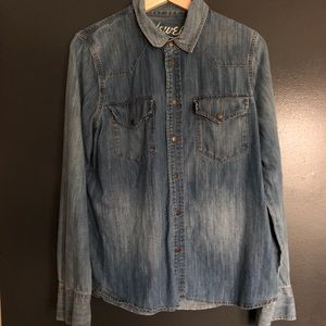 Madewell Western Style Chambray Shirt